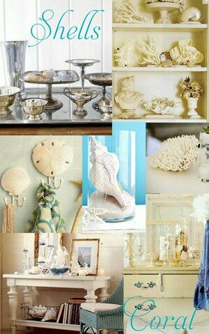Decorating with shells.