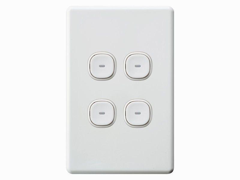 Clipsal Classic Impress 4 Four Gang Quad Push Button Light