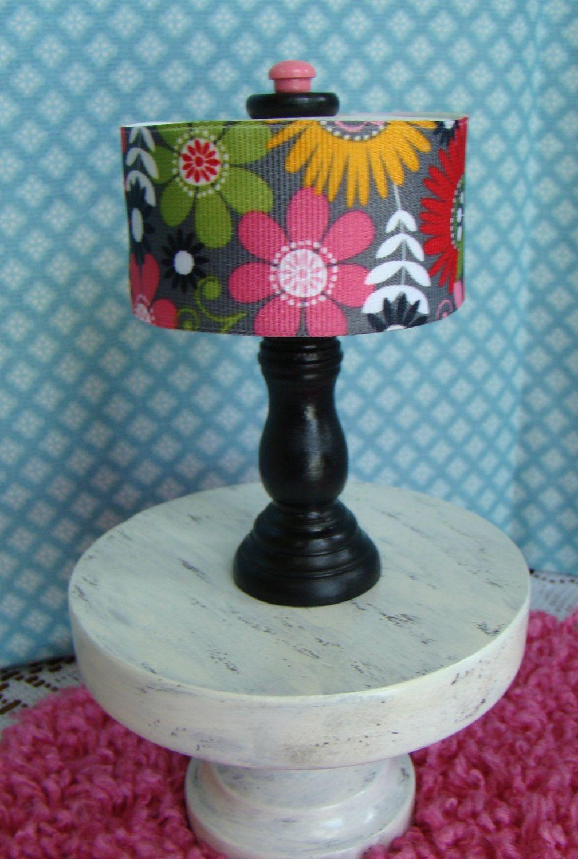 Barbie Furniture Black Table Lamp W 3 Quot Drum Lampshade