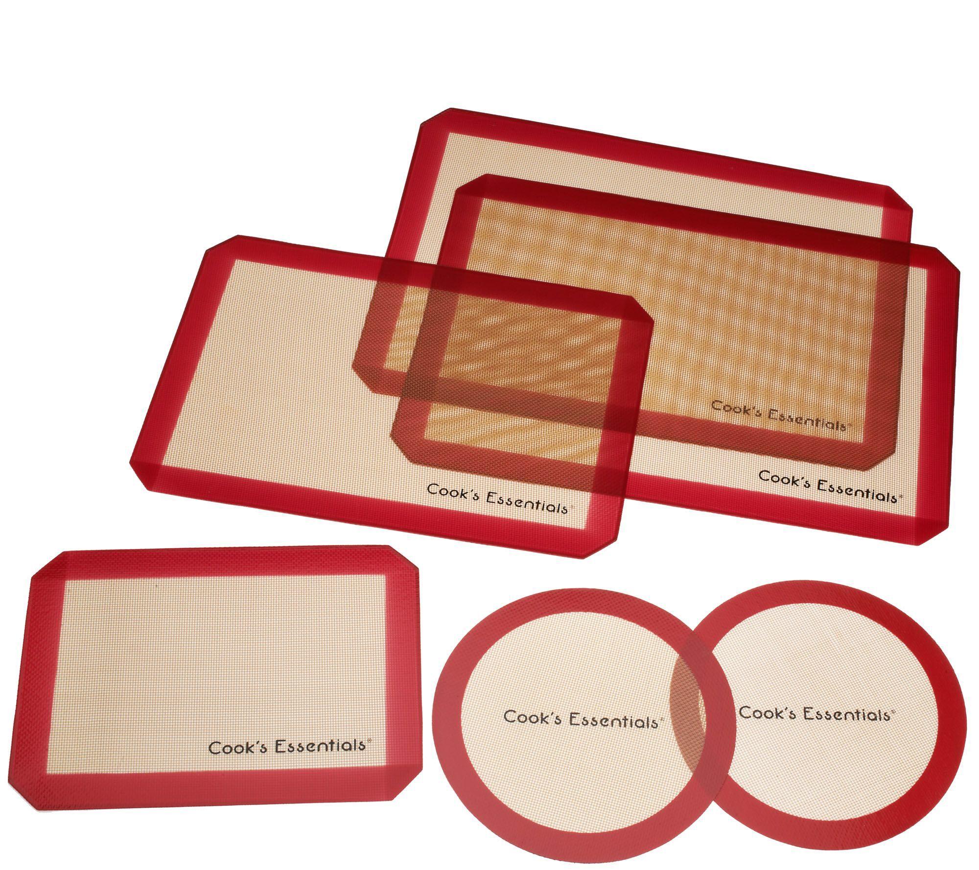 Cook\'s Essentials 6-piece Silicone Baking Mat Set | Kitchens ...
