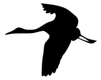 Vliegende kraan vogel gestanst Decal auto door BeeMountainGraphics