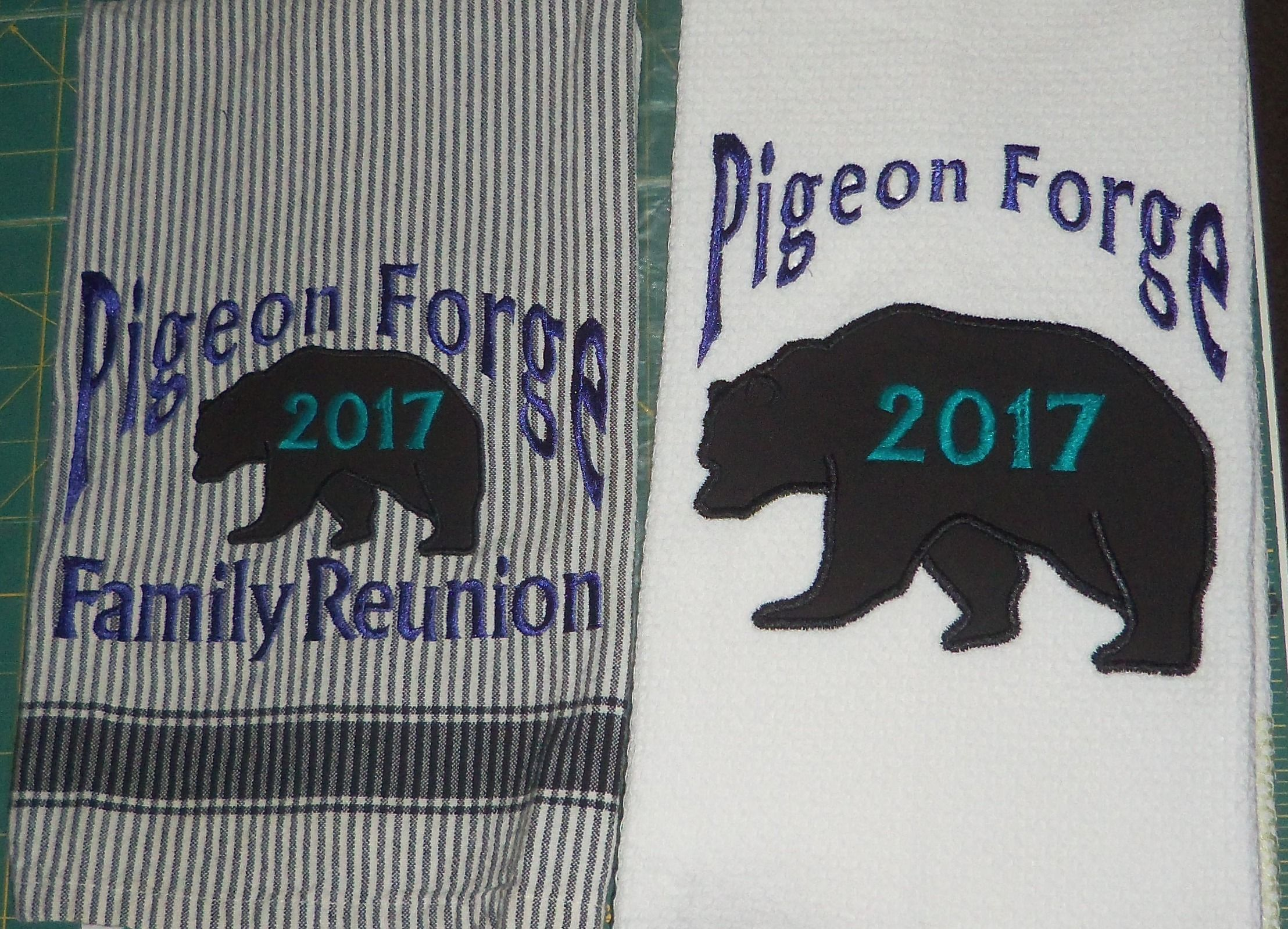 Yes We Can Even Personalize Kitchen Or Bathroom Towels For Your Family Vacations Or Reunions Family Reunion Family Vacation Reunion