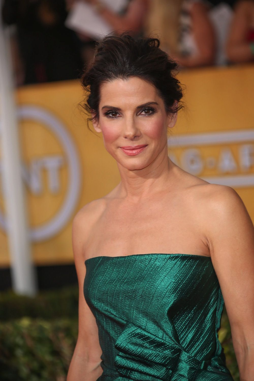 how to create sandra bullock's messy-romantic updo | beauty