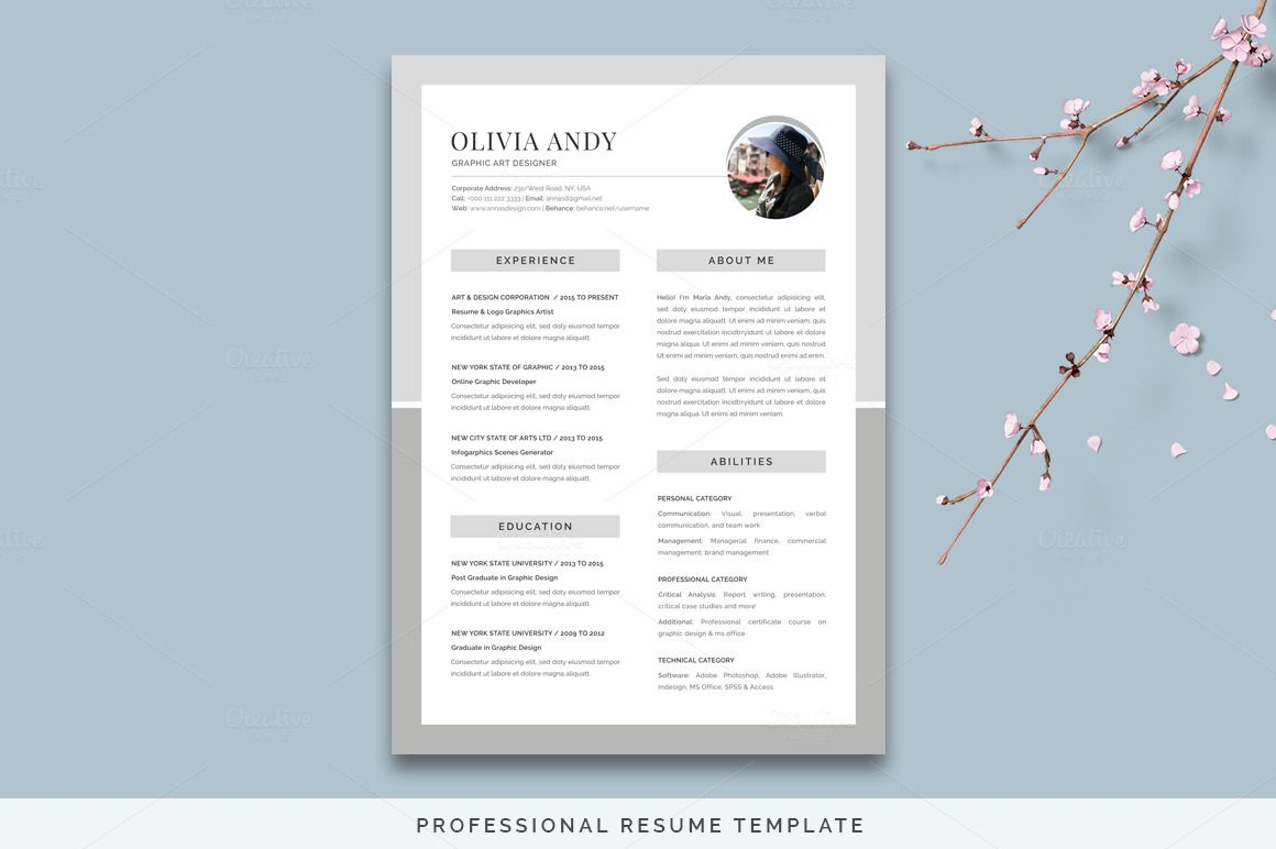 Resume Pack Olivia Unique resume template, Magazine