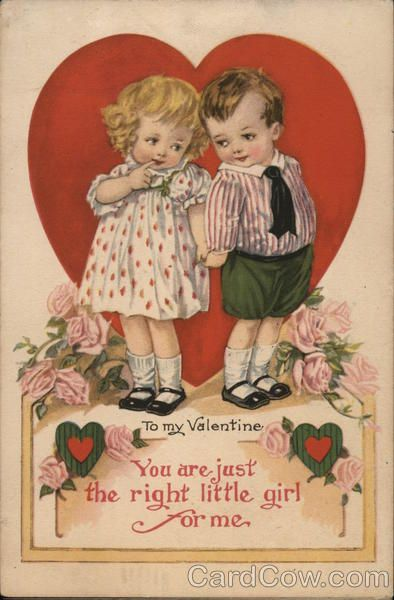 postcard.quenalbertini: Vintage Valentine's Card