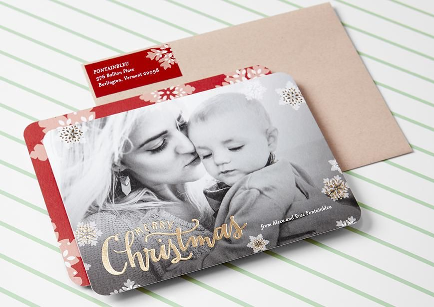foil stamped christmas cards for the merriest of occasions
