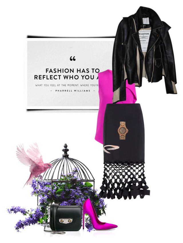 """postcard from far away"" by dear-inge on Polyvore featuring Brian Atwood, Balenciaga, Maison Margiela, Dion Lee and WeWood"