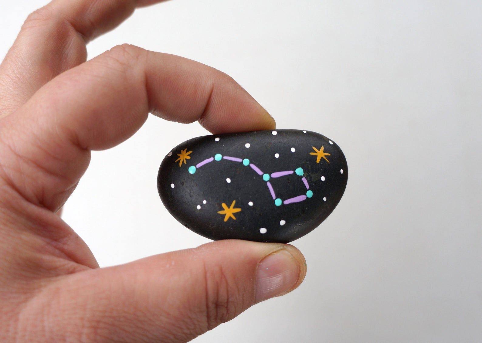 Set of 20 Hand Painted Space Rocks Themed Party Fa