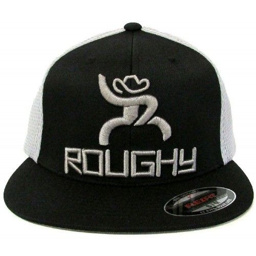 beda27ae201 HOOey Cap Curl Roughy Black and Silver FlexFit Cowboy Cap