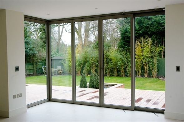Slc80 Sliding Stackable Corner Door System Slimline Glazing Aluminium Systems Bifold Doors Onto Patio Bifold Patio Doors Corner Bifold Doors