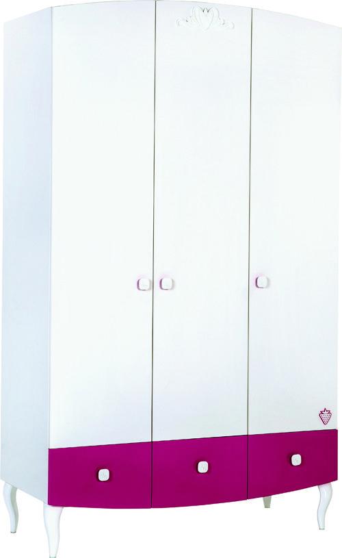 Cilek Yakut Kleiderschrank mit LED - Kleiderstange         - Kostenloser Versand innerhalb Deutschlands! -       Der schöne und auf das Wesentliche reduzierte Kleiderschrank hat erleuchtende innere Werte. Die fuchsiafarbenen...#kinder #kinderzimmer #kleiderschrank #cilek