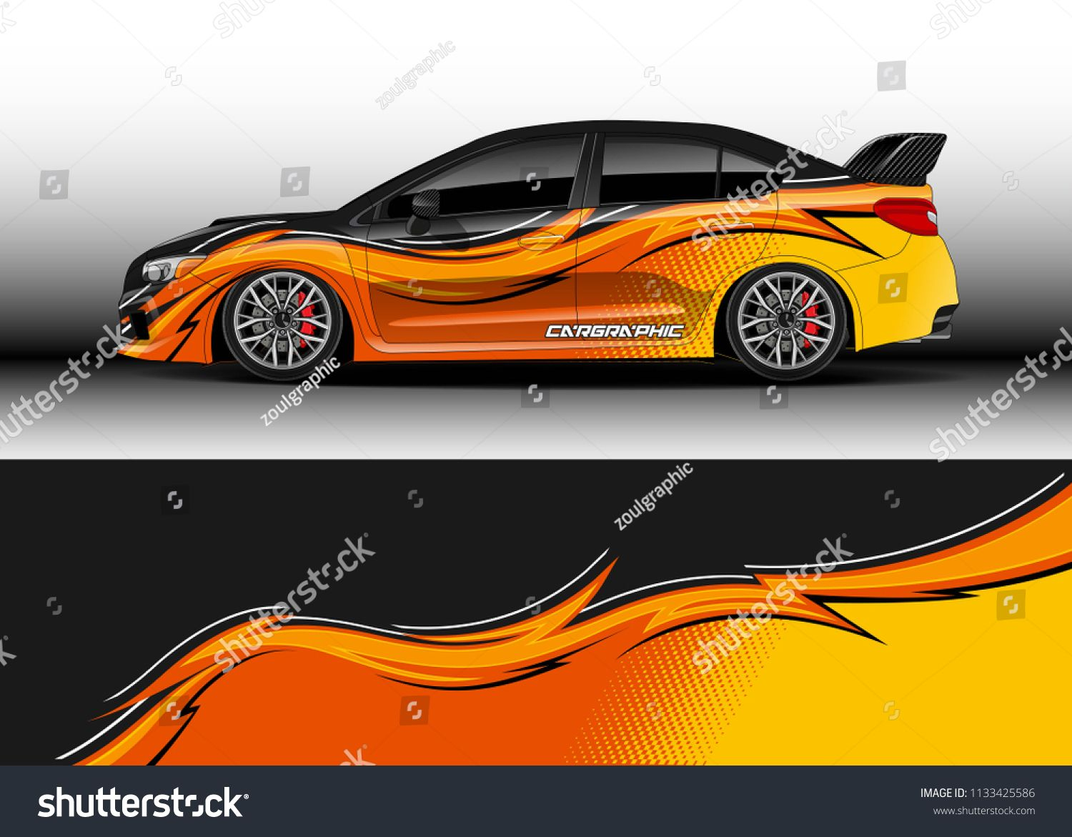 Car decal truck and cargo van wrap vector graphic abstract stripe designs for drift