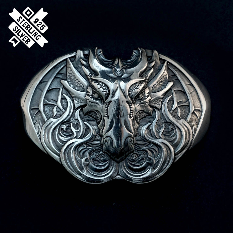 Silver Dragon Belt Buckle Old Norse Scandinavian Dragon Etsy In 2020 Silver Dragon Belt Buckles Silver Belt Buckle