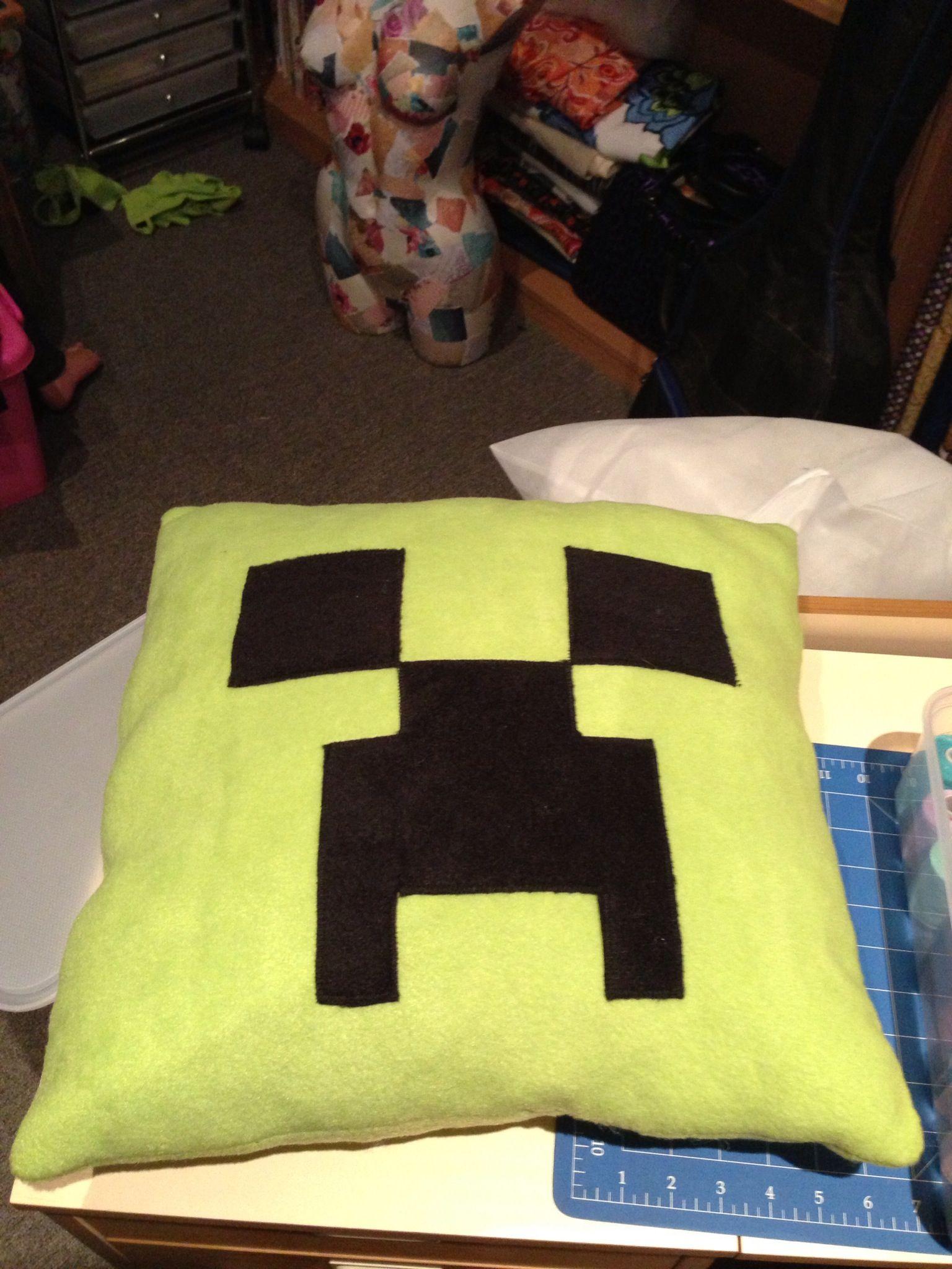 Minecraft creeper cushion I made. | Party Ideas | Pinterest ...