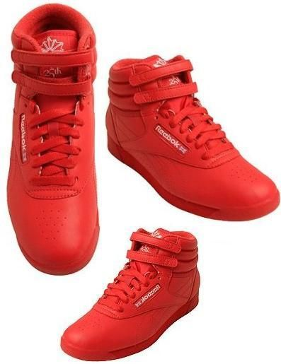 9a87ba640f1 red reeboks (classic high tops)
