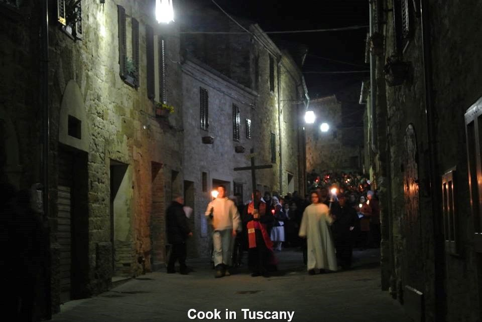 Easter procession in Montefollonico     www.cookintuscany.com     #Italy #cooking #school #cookintuscany #tuscany #montefollonico #culinary #montepulciano #class #schools #classes #cookery #cucina #travel #tour #trip #vacation #pienza #florence #siena #cook #tuscan #cortona #pienza #pasta #allinclusive #women #underthetuscansun
