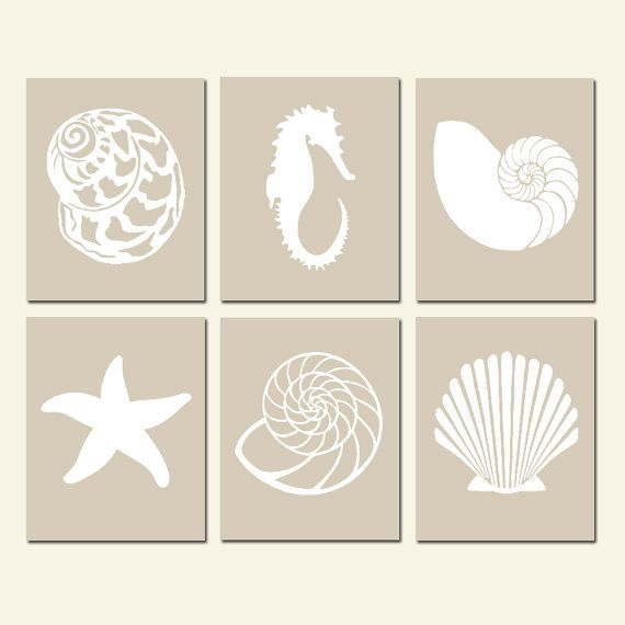 Modern Sea Life Silhouette Collection