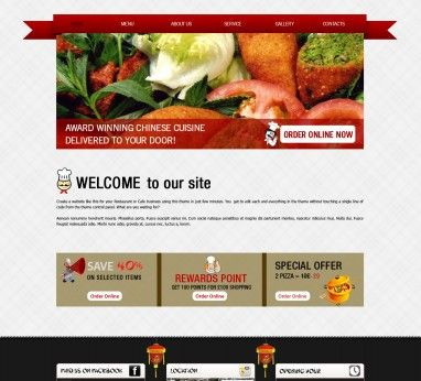 Template 3 - Chinese Restaurant & Takeaway Website Template ...