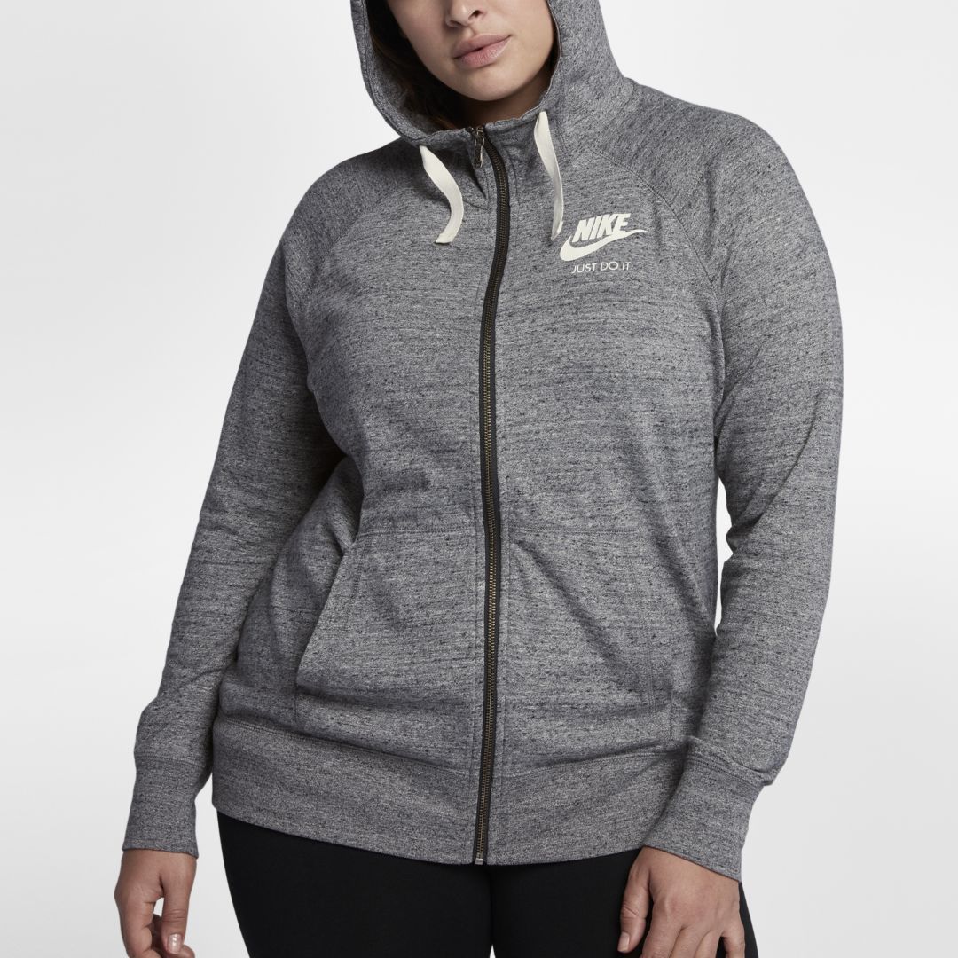Nike Hoodie Carbon Heather Nike Sportswear Gym Vintage Plus Size Women S Full Zip