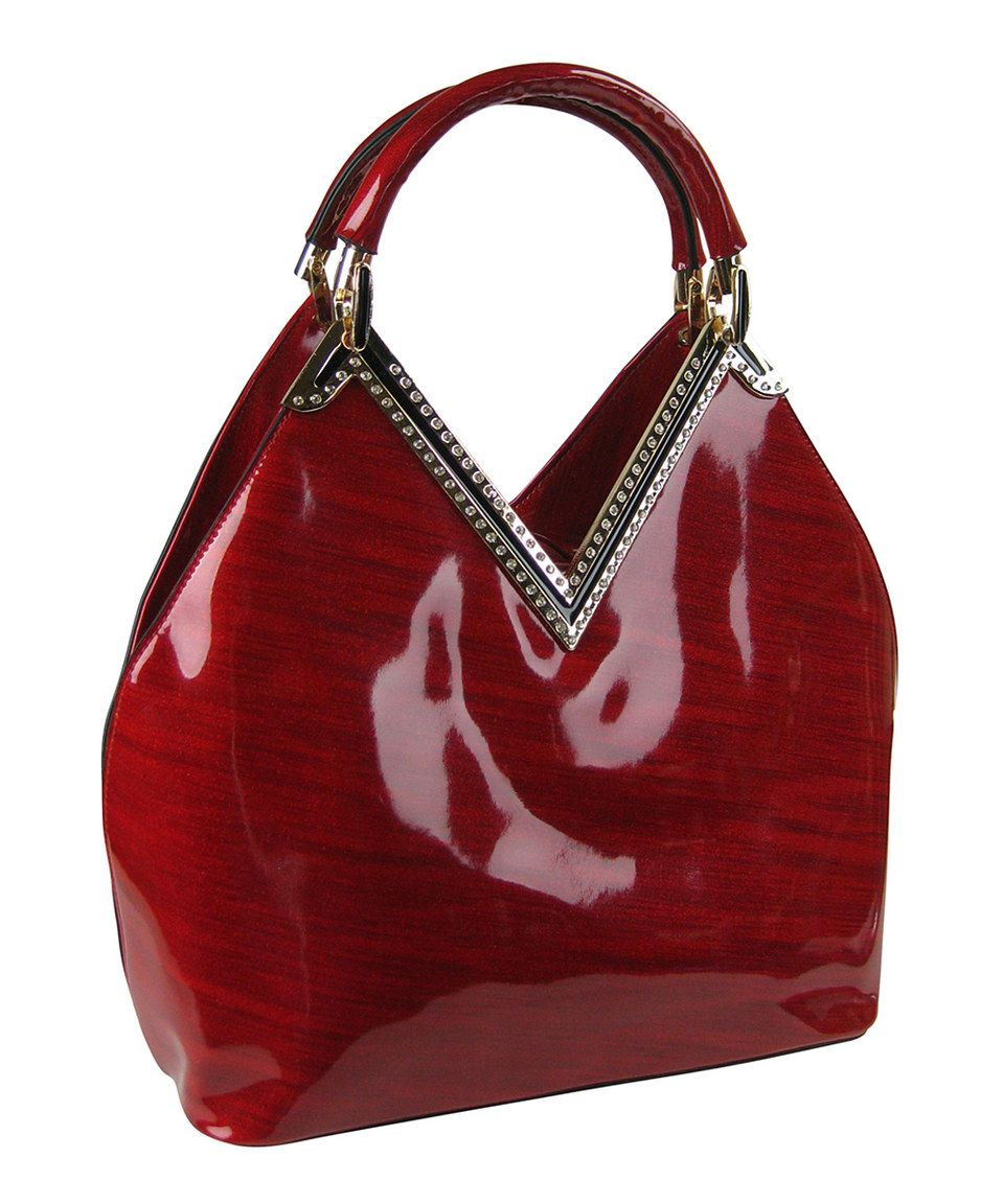 c8b1f9b712076 Another great find on #zulily! Red Patent Shoulder Bag by AR New ...