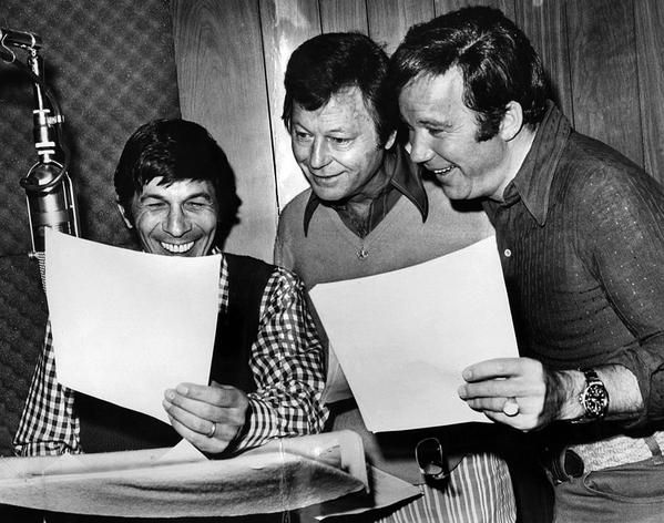 Nimoy, Kelley, and Shatner record their voices for Star Trek: The Animated Series, April 24, 1973 http://t.co/mK0UMccKTs