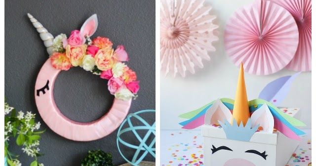 13 of the Sweetest Unicorn Craft Ideas! - Crafts, Unicorn crafts, Crafts for kids, Unicorn party decorations, Diy for kids, Birthday sleepover ideas - These are the sweetest unicorn craft ideas you'll find on the web! Includes ideas for unicorn party decorations, room decor, and more!