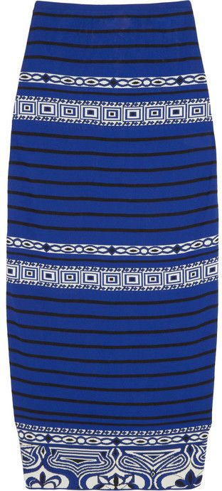 Emilio Pucci Jacquard-knit maxi skirt on shopstyle.com