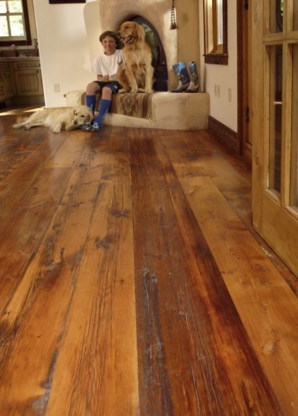 Reclaimed Milled Barnwood Floors And Fireplace Inspiration Gallery