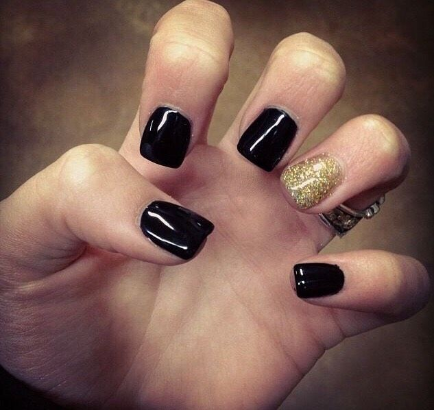 Black Nail Art Ideas That Are Cute Beauty Musely Tip Short