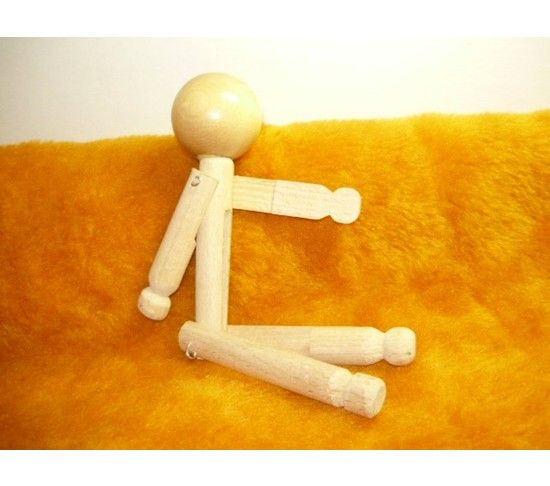 Clothes Pin Peg Doll Wood 7 1/2 inches tall, $3.49