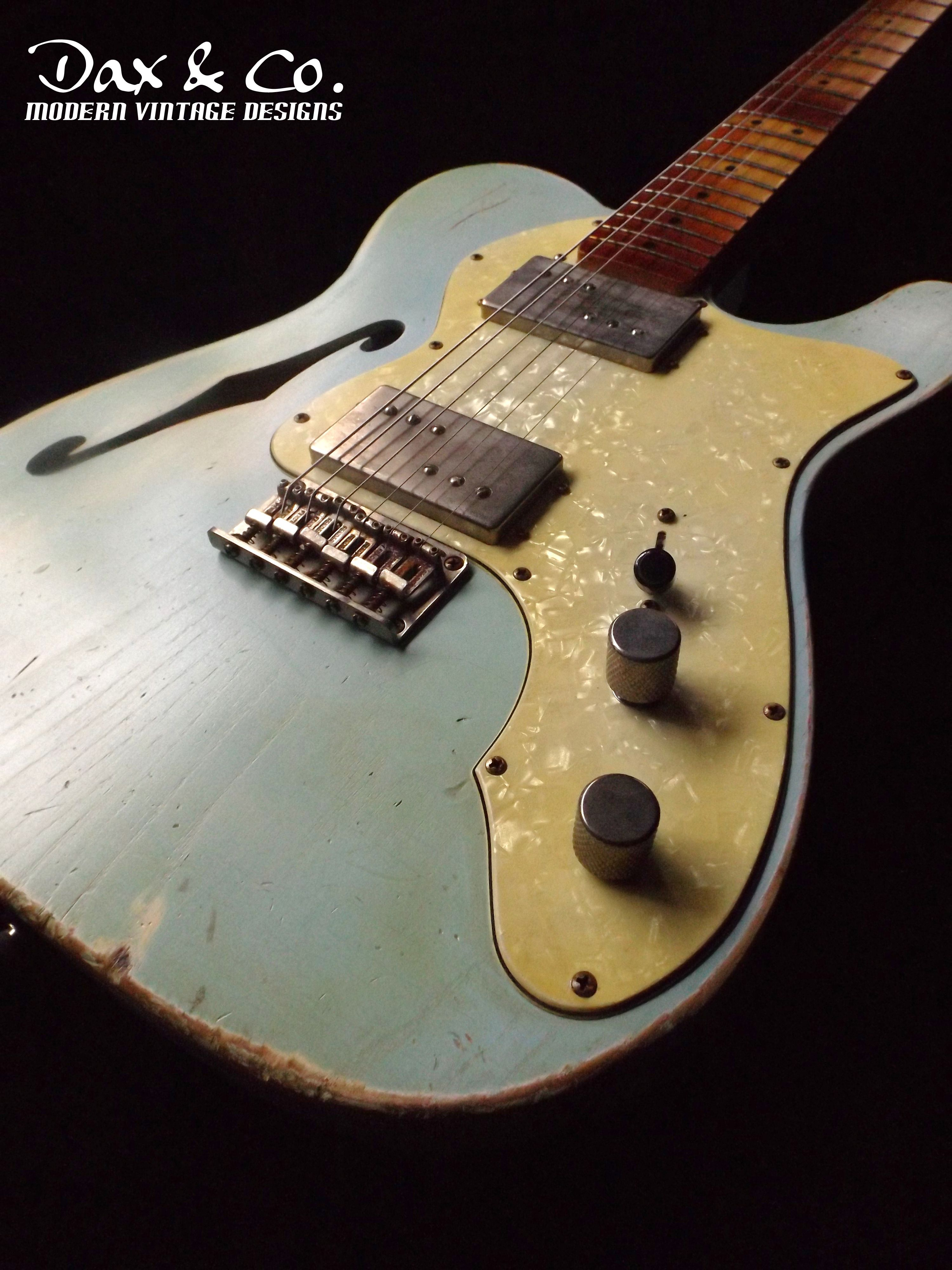 From the Dax&Co Custom Shop Fender Thinline Telecaster Relic
