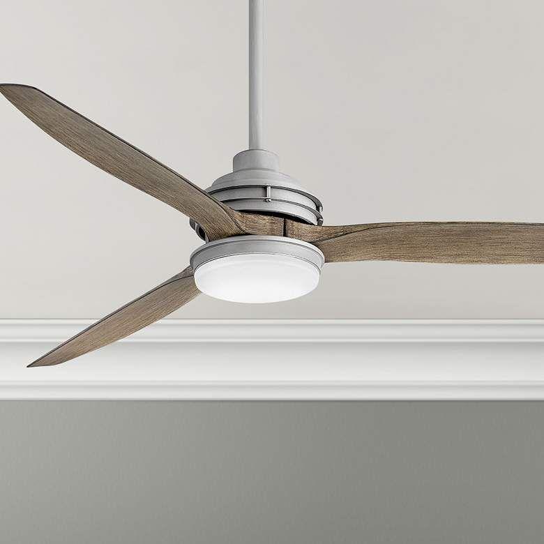 60 Hinkley Artiste Graphite Led Wet Rated Ceiling Fan 84h28 Lamps Plus In 2020 Ceiling Fan Wet Rated Ceiling Fans Dimmable Led Lights