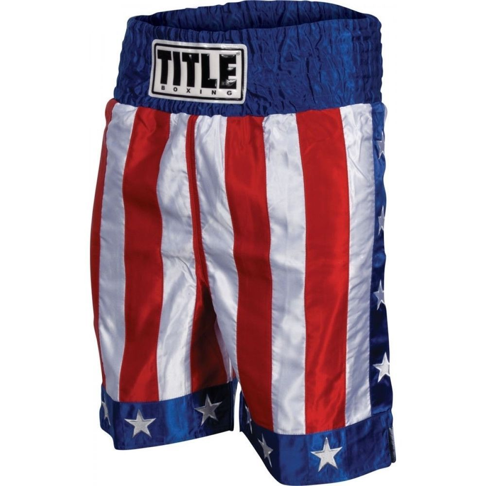 Title American Flag Boxing Trunks Ebay With Images Boxing Trunks Thai Boxing Shorts Mma Fight Shorts