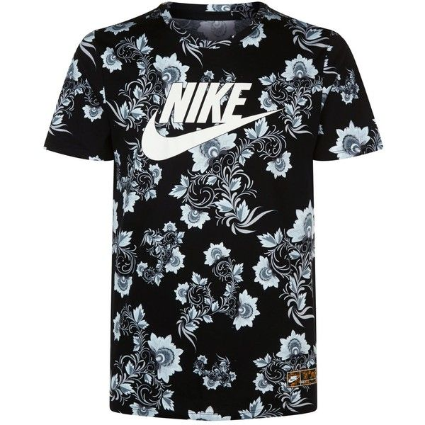 4930275b Nike Floral Print T-Shirt ($42) ❤ liked on Polyvore featuring men's fashion