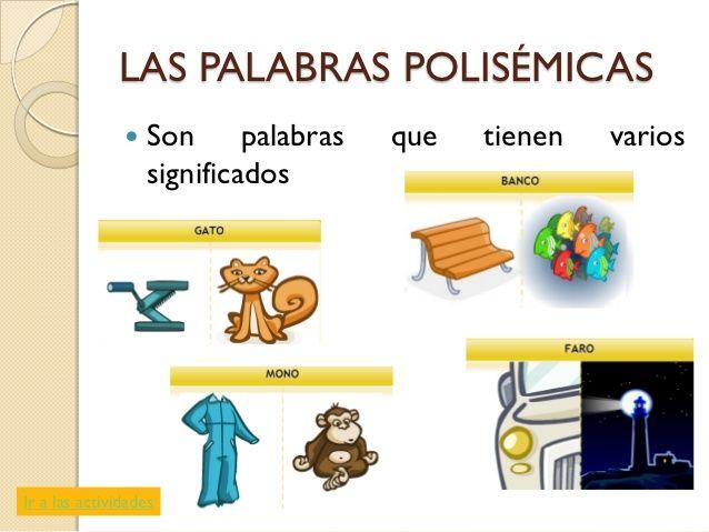 Resultado De Imagen De Carteles Palabras Polisemicas Palabras Polisemicas Expresion Oral Palabras