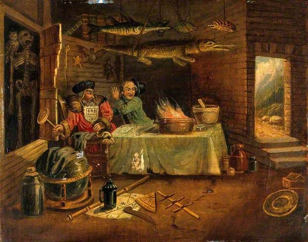An Explosion in a Laboratory, after William Hogarth