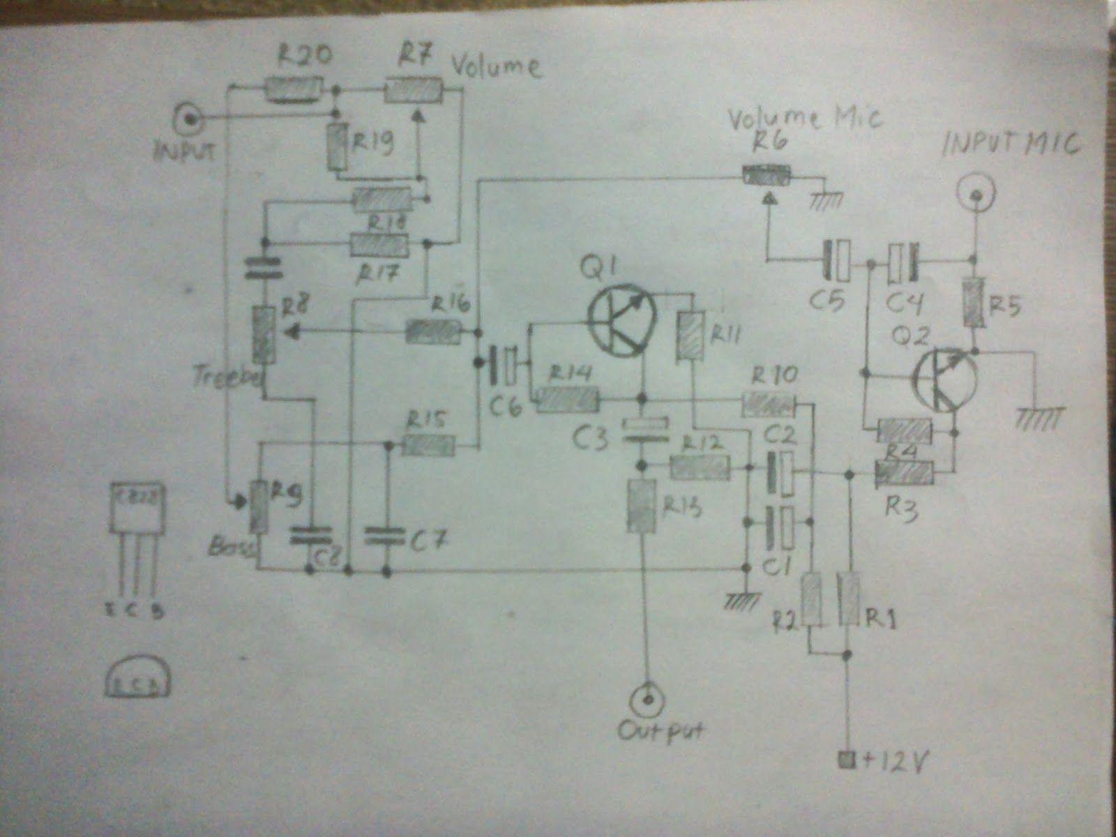 c tone control preamp mic circuit hubby project c828 tone control preamp mic circuit