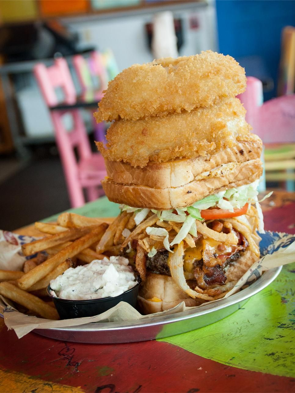 The Most Over The Top Burgers In The Country Restaurants Food Network Food Network Food Network Recipes Food Burger
