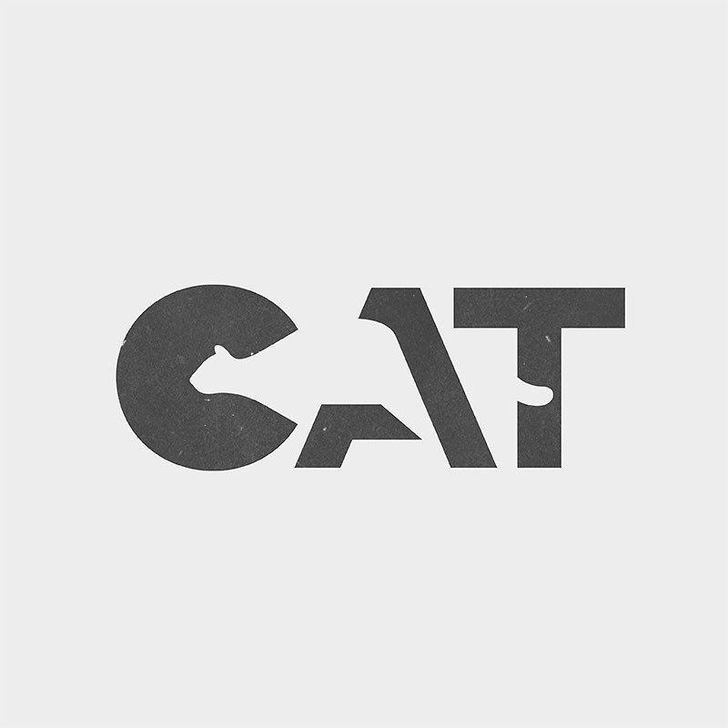 Il joue avec l'espace négatif pour créer des logos qui font apparaître des animaux