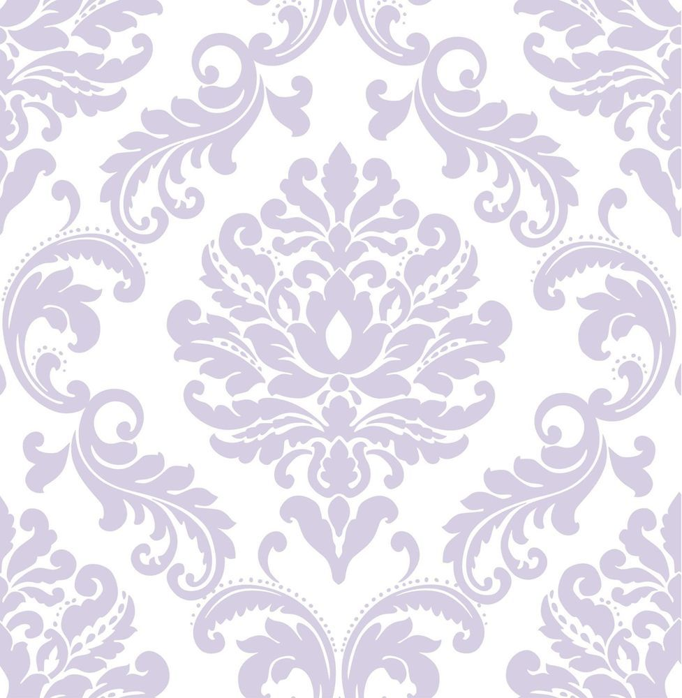 Purple Floral Wallpaper Wall Coverings Wall Pops Home Decor Wall Stickers White Peel And Stick Wallpaper Damask Wallpaper Nuwallpaper
