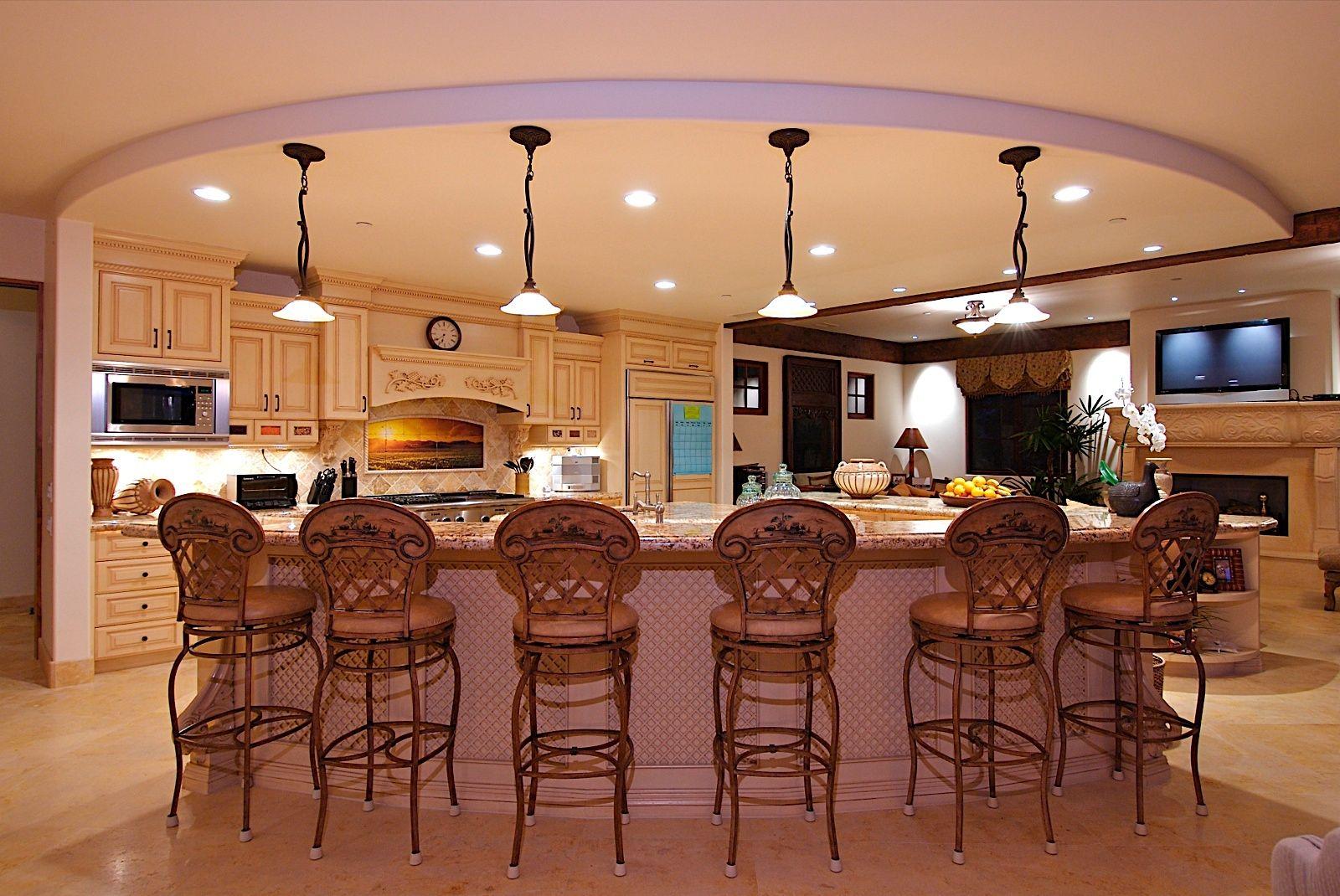 Decorations attractive kitchen lighting design with vintage pendant