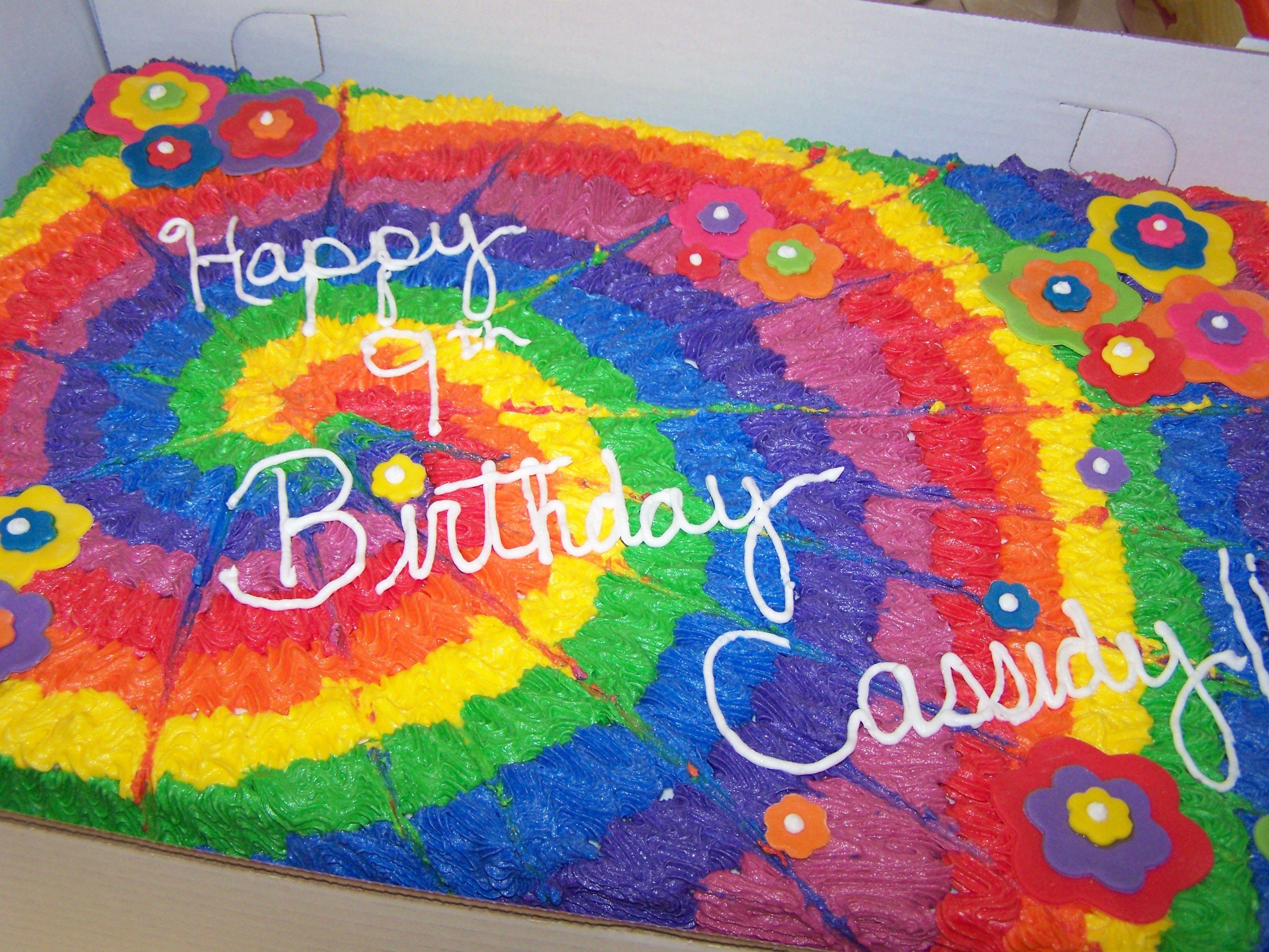 One Of My Tye Dye Cakes