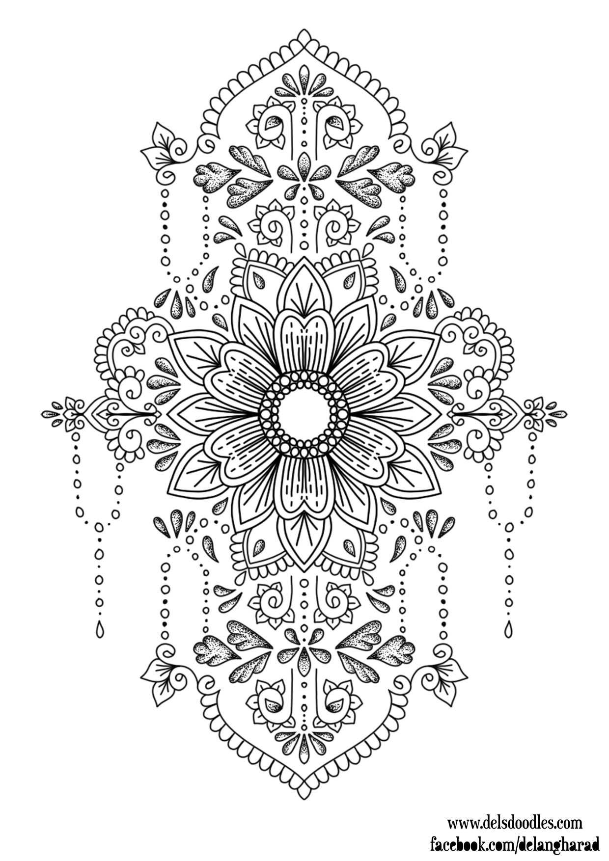 Pin de Maricarmen Magaña en Mandala para colorear | Pinterest ...