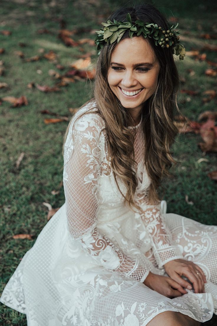 Karen u uweus diy boho wedding wed dress winter pinterest