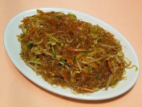 Ricetta Noodles Di Soia.Spaghetti Di Soia Viene Messo Dentro Acqua Il Giorno Prima Ricette Asiatiche Ricette Cibo Asiatico