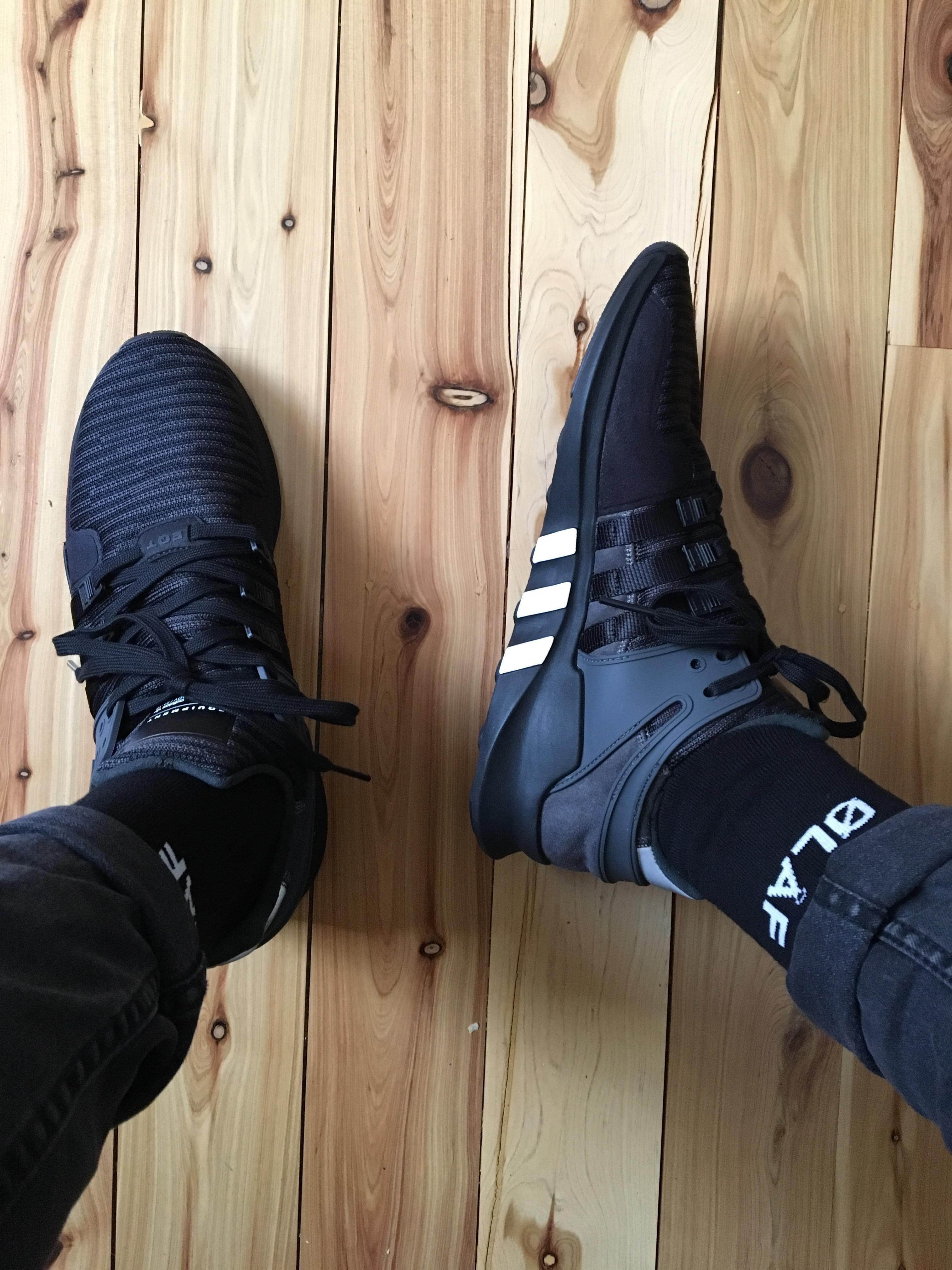 pickup] Adidas EQT Support ADV - Black Solid Grey -#shoesmen #men ...