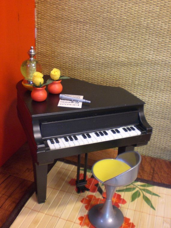 Barbie Doll House PIANO SUSHI BAR Funky Modern Complete Room