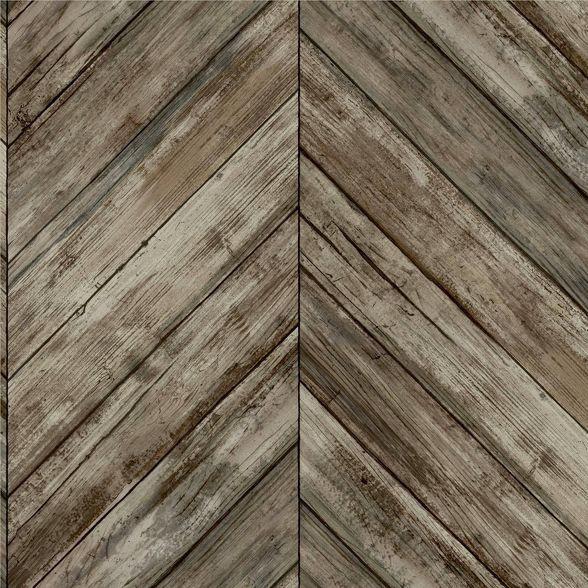 Roommates Herringbone Wood Boards Peel Stick Wallpaper Herringbone Wood Wood Wallpaper Peel And Stick Wallpaper