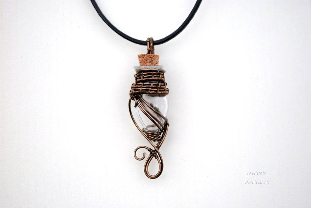 Little magic bottle wire wrapped pendant by IanirasArtifacts on ...