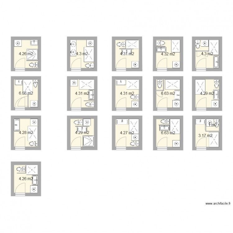 Plan salle de bain 3m2 | Domeček | Pinterest | Tiny houses, House ...